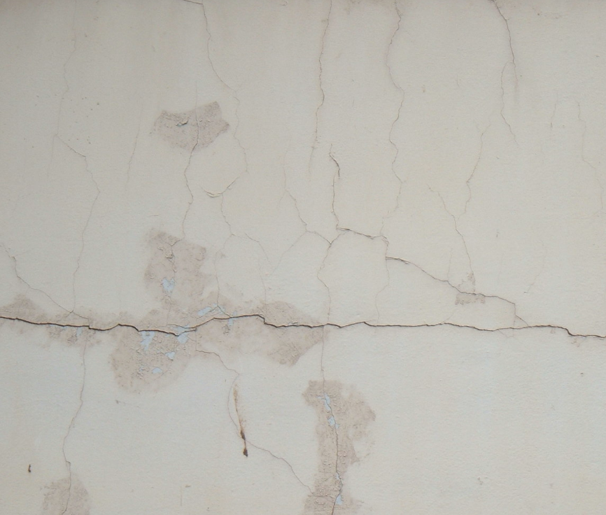 cracks in building wall
