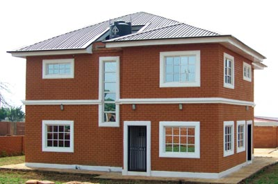Interlock brick House