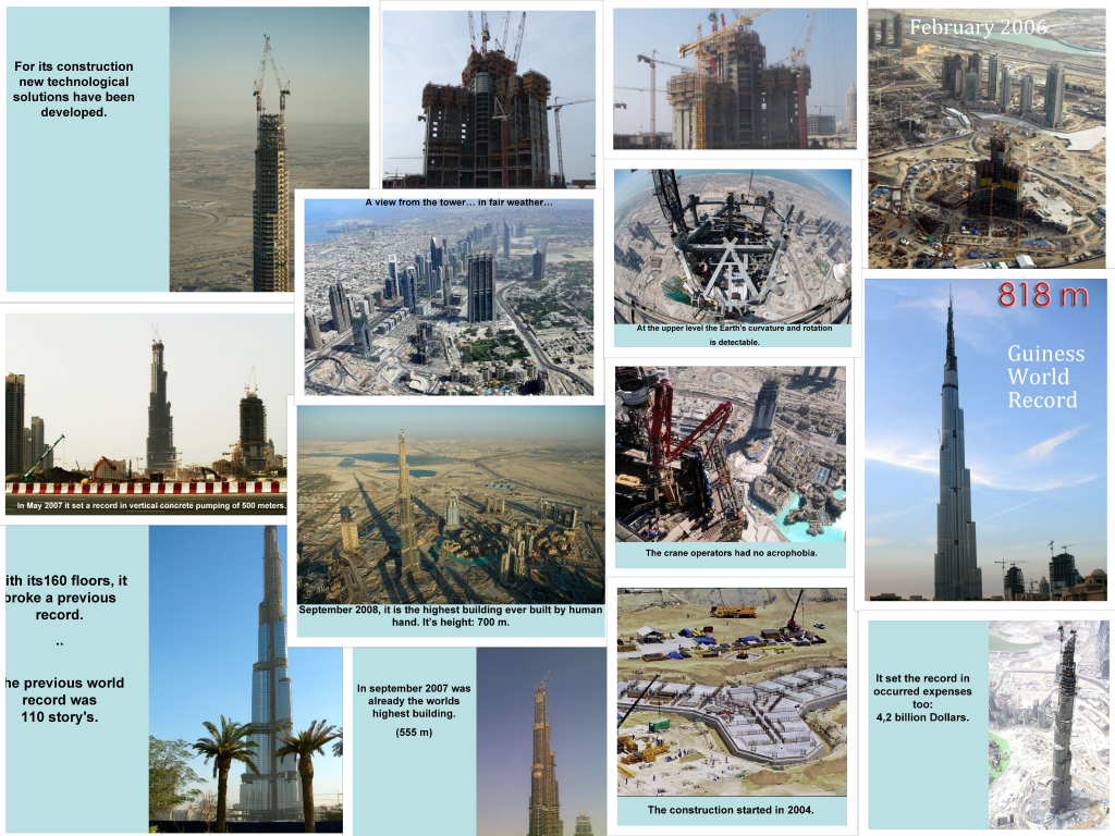 Burj Khalifa Architectural Construction images