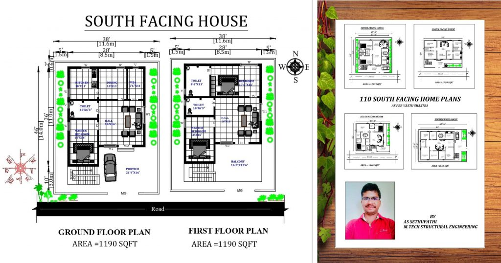 South Facing House Plans