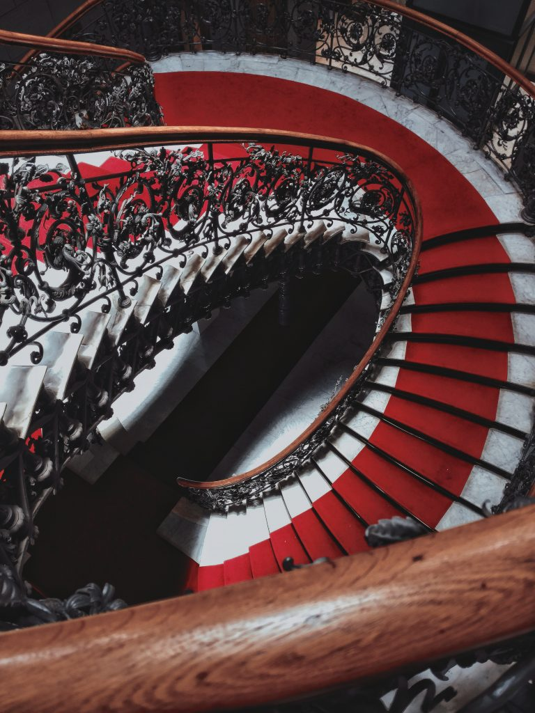 Wonderful stairs with Red carpet