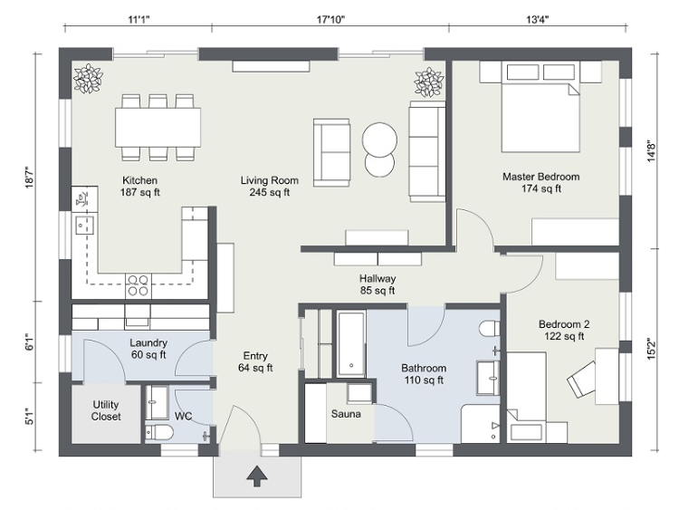 2D floor plans by using Room Sketcher