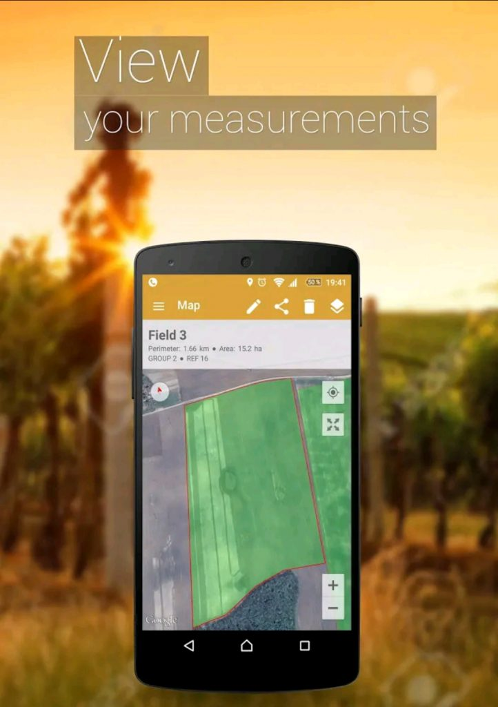 GPS Fields Area Measure Mobile App