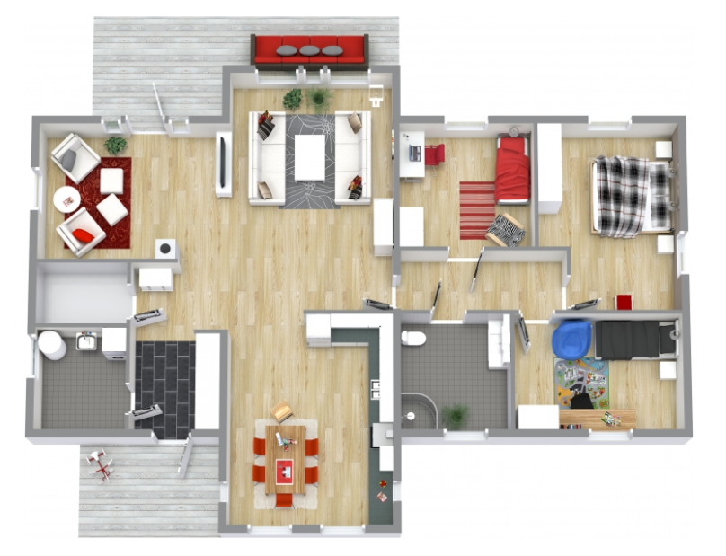 3D floor plans by using Room Sketcher